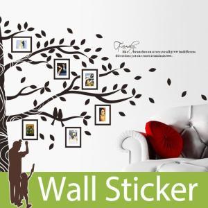 ウォールステッカー 壁 木 木の下 思い出 フレーム 2枚セット 貼ってはがせる のりつき 壁紙シール ウォールシール 植物 木 花|wallstickershop