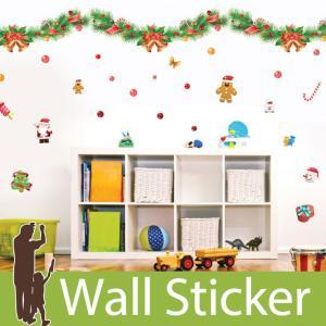ウォールステッカー クリスマス 飾り 壁紙 クリスマスリース 花 オーナメント 木 壁紙 ウォールデ...
