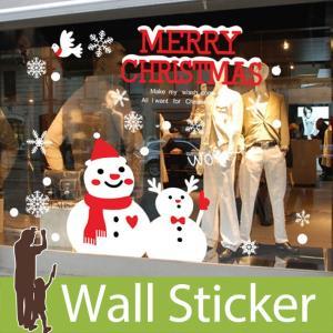 ウォールクリスマス 雪 装飾 結晶 白 ホワイト メリークリスマス 英文 英語 英字 雪だるま 貼ってはがせる 雪の結晶 オーナメント 北欧|wallstickershop