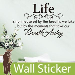 ウォールステッカー 壁 英語 文字 英字 英文字(Life) 貼ってはがせる のりつき 壁紙シール ウォールシール ウォールステッカー本舗|wallstickershop