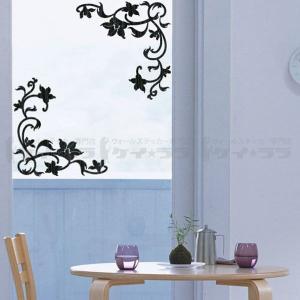 ウォールステッカー 壁 花 花と蝶 転写タイプ 貼ってはがせる のりつき 壁紙シール ウォールシール 植物 木 花|wallstickershop