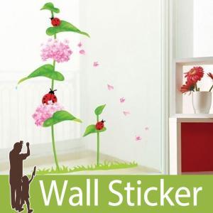 ウォールステッカー 花 てんとう虫 壁紙シール ウォールステッカー 木 ウォールステッカー 壁紙 ウォールステッカー|wallstickershop