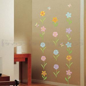 ウォールステッカー 壁 花 花と蝶 貼ってはが...の詳細画像1