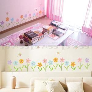 ウォールステッカー 壁 花 花と蝶 貼ってはが...の詳細画像2