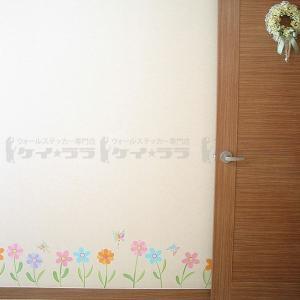 ウォールステッカー 壁 花 花と蝶 貼ってはが...の詳細画像3