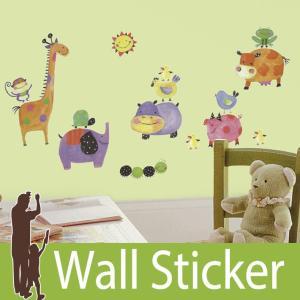 ウォールステッカー アニマル 動物 (ポルカドットピギー) ルームメイツ RoomMates 壁紙シール 貼ってはがせる のりつき ウォールシール|wallstickershop