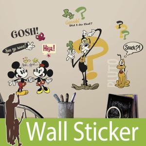 ウォールステッカー キャラクター ディズニー (ミッキーマウス カートゥーン) ルームメイツ RoomMates 壁紙シール 貼ってはがせる のりつき ウォールシール|wallstickershop