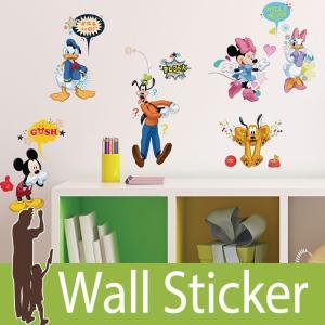 ウォールステッカー キャラクター ディズニー (ミッキー&フレンズ) ルームメイツ RoomMates 壁紙シール 貼ってはがせる のりつき ウォールシール|wallstickershop