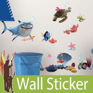 ウォールステッカー キャラクター ディズニー (ファインディング・ニモ&フレンズ) ルームメイツ RoomMates 壁紙シール 貼ってはがせる のりつき ウォールシール|wallstickershop