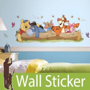 ウォールステッカー キャラクター ディズニー (プー&フレンズ (ジャイアント)) ルームメイツ RoomMates 壁紙シール 貼ってはがせる のりつき ウォールシール|wallstickershop
