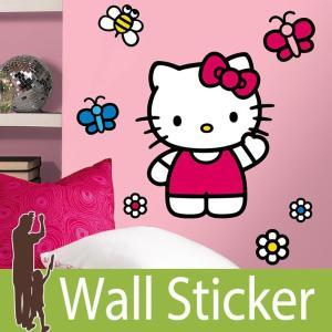 ウォールステッカー キャラクター (ワールド オブ ハローキティ(ジャイアント)) ルームメイツ RoomMates 壁紙シール 貼ってはがせる のりつき ウォールシール|wallstickershop