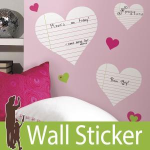 ウォールステッカー ハート (ハートノートパッド) ルームメイツ RoomMates 壁紙シール 貼ってはがせる のりつき ウォールシール|wallstickershop