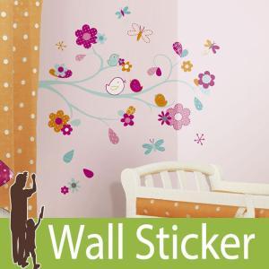 ウォールステッカー 動物 キャラクター (zutano フレンドリーバード) ルームメイツ RoomMates 壁紙シール 貼ってはがせる のりつき|wallstickershop