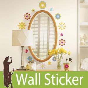 ウォールステッカー 花 (グラフィックフラワー) ルームメイツ RoomMates 壁紙シール 貼ってはがせる のりつき ウォールシール|wallstickershop