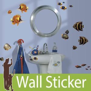 ウォールステッカー 魚 (アンダーザシー) ルームメイツ RoomMates 壁紙シール 貼ってはがせる のりつき ウォールシール|wallstickershop