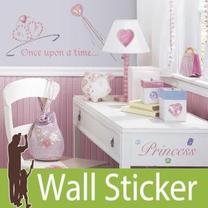 ウォールステッカー ジュエル ハート (プリンセス) ルームメイツ RoomMates 壁紙シール 貼ってはがせる のりつき ウォールシール|wallstickershop