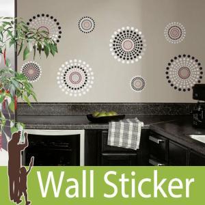 ウォールステッカー 北欧 (フュージョン) ルームメイツ RoomMates 壁紙シール 貼ってはがせる のりつき ウォールシール|wallstickershop