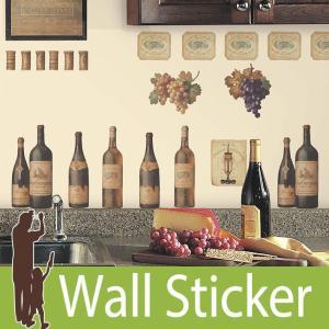ウォールステッカー 北欧 アンティーク (ワインテイスティング) ルームメイツ RoomMates 壁紙シール 貼ってはがせる のりつき|wallstickershop