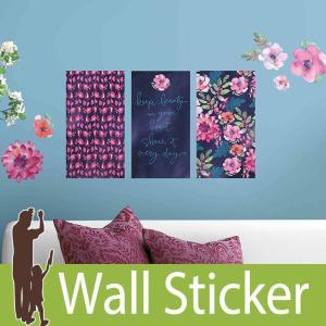 ウォールステッカー 花 (キャシーデイビス フローラルパネル) ルームメイツ RoomMates 壁紙シール 貼ってはがせる|wallstickershop