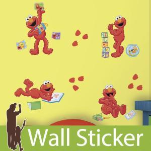 ウォールステッカー セサミストリート エルモセントリック 半透明 かわいい ルームメイツ RoomMates 壁紙シール リビング 子供部屋|wallstickershop