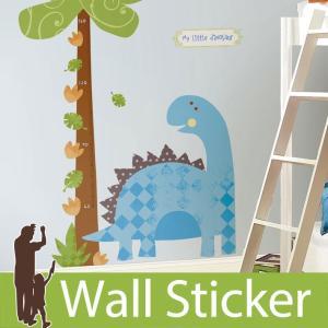 ウォールステッカー かわいい 身長計 恐竜 ビッグサイズ ベビーザウルス 不透明 北欧 ルームメイツ RoomMates シール リビング 子供部屋|wallstickershop