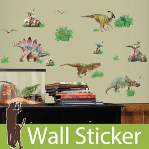 ウォールステッカー リアル 恐竜 ザウルス 古代の生き物 ジェニュインダイナソー 半透明 ルームメイツ RoomMates リビング 子供部屋|wallstickershop