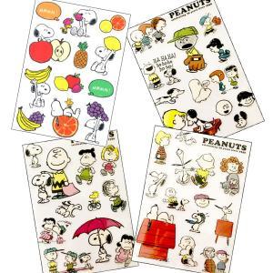 ウォールステッカー スヌーピー クリア シール デコシール キャラクター 貼ってはがせる 全6種 SNOOPY PEANUTS チャーリーブラウン