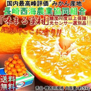 みかん 味まる 長崎県産 5kg 100%糖度保障12度以上 JA西海 秀品 贈答用 お歳暮 御歳暮 御年賀 お年賀 鮮度抜群 贈り物規格