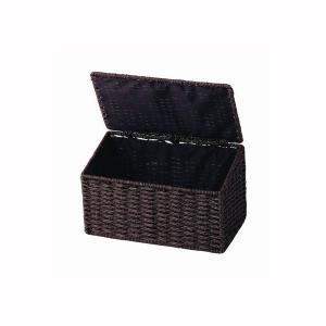 ちどり産業 ペーパーサニタリーボックス ダークブラウン|wamonogram