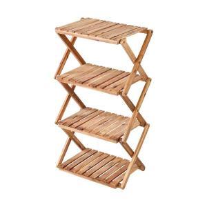 パール金属 CSクラシックス 木製4段MOVEラック<460>|wamonogram