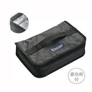 岩崎工業 1段用保冷ランチバッグ ブラック|wamonogram