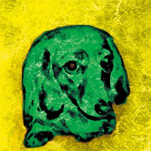 【BOW COLOR yellow】 ミニチュアダックスフンド 10by10 STYLE (インテリア/雑貨/犬)|wan-nyan-gallery