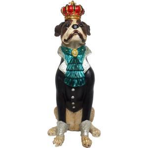 【Earl of boxer】 ボクサー Peer Objet 英国貴族風アンティークオブジェ (犬 置物 輸入雑貨)|wan-nyan-gallery