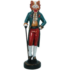 【Baron of Cat】 猫男爵 Peer Objet 英国貴族風アンティークオブジェ (置物 輸入雑貨)|wan-nyan-gallery