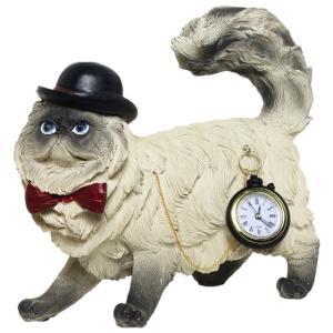 【Pet of Cat】 猫 Peer Objet 英国貴族風アンティークオブジェ (置物 輸入雑貨)|wan-nyan-gallery