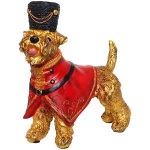 【Viscount of Gold Schnauzer】 ミニチュアシュナウザー Peer Objet 英国貴族風アンティークオブジェ (犬 置物 輸入雑貨)|wan-nyan-gallery