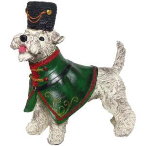 【Viscount of White Schnauzer】 ミニチュアシュナウザー Peer Objet 英国貴族風アンティークオブジェ (犬 置物 輸入雑貨)|wan-nyan-gallery