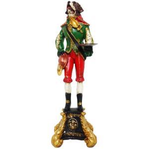 【Baron of St.bernard】 セントバーナード Peer Objet 英国貴族風アンティークオブジェ (犬 置物 輸入雑貨)|wan-nyan-gallery