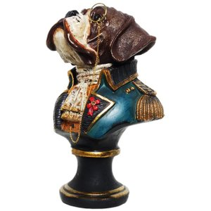 【Baron of Saint bernard】 セントバーナード Peer Objet 英国貴族風アンティークオブジェ (犬 置物 輸入雑貨)|wan-nyan-gallery