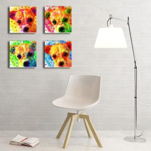 【Emotions】 チワワ Sサイズ×4枚セット ワンにゃんアートキャンバス (絵画/アート/犬)|wan-nyan-gallery
