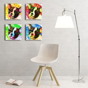【Emotions】 フレンチブルドッグ Sサイズ×4枚セット ワンにゃんアートキャンバス (絵画/アート/犬)|wan-nyan-gallery