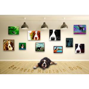 【バーニーズマウンテンドッグ -Interior SML 3Package-】 ワンにゃんアートキャンバス  S×1 M×1 L×1 の3点セット (絵画/犬/インテリア雑貨)|wan-nyan-gallery