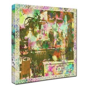【MIX CAT CAFE】 ミックス Lサイズ ワンにゃんアートキャンバス Cafe series (絵画/猫/インテリア雑貨/グッズ)|wan-nyan-gallery
