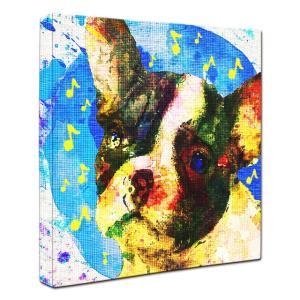 【Emotions -blue-】 フレンチブルドッグ Sサイズ ワンにゃんアートキャンバス (絵画/犬/インテリア雑貨/グッズ)|wan-nyan-gallery