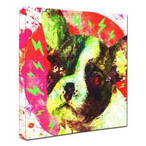 【Emotions -red-】 フレンチブルドッグ Sサイズ ワンにゃんアートキャンバス (絵画/犬/インテリア雑貨/グッズ)|wan-nyan-gallery