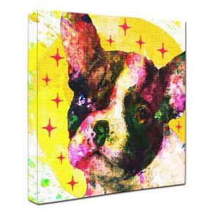 【Emotions -yellow-】 フレンチブルドッグ Sサイズ ワンにゃんアートキャンバス (絵画/犬/インテリア雑貨/グッズ)|wan-nyan-gallery