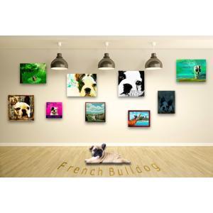 【フレンチブルドッグ -Interior SML 3Package-】 ワンにゃんアートキャンバス  S×1 M×1 L×1 の3点セット (絵画/犬/インテリア雑貨)|wan-nyan-gallery