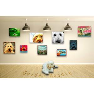 【ゴールデンドゥードル -Interior SML 3Package-】 ワンにゃんアートキャンバス  S×1 M×1 L×1 の3点セット (絵画/犬/インテリア雑貨) wan-nyan-gallery