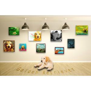 【ゴールデンレトリバー -Interior SML 3Package-】 ワンにゃんアートキャンバス  S×1 M×1 L×1 の3点セット (絵画/犬/インテリア雑貨)|wan-nyan-gallery