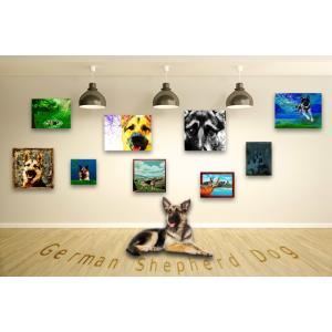 【ジャーマンシェパードドッグ -Interior SML 3Package-】 ワンにゃんアートキャンバス  S×1 M×1 L×1 の3点セット (絵画/犬/インテリア雑貨)|wan-nyan-gallery